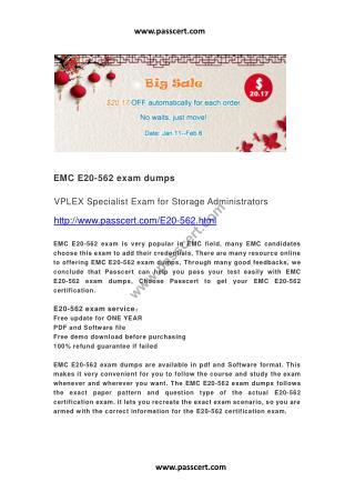 EMC E20-562 exam dumps