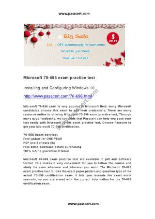 Microsoft 70-698 exam practice test