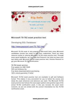 Microsoft 70-762 exam practice test