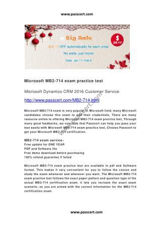 Microsoft MB2-714 exam practice test