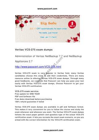 Veritas VCS-275 exam dumps