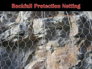 rockfall protection netting