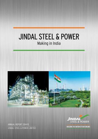 Jindal Power Steel Make in India