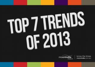 Top 7 Trends of 2013