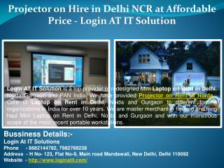 Projector on Hire in Delhi NCR at Affordable Price - Login AT IT Solution