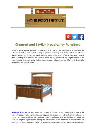 Cleaned and Stylish Hospitality Furniture