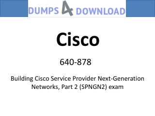 640-878 Dumps 2017 PDF - Dumps4download.com