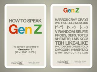 How to Speak Gen Z: The Alphabet According to Gen Z - McCrindle Research