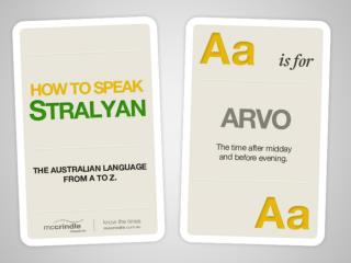 McCrindle Research How to Speak Stralyan!