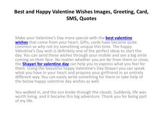 Best and Happy Valentine Wishes Images, Greeting, Messages, SMS, Quotes