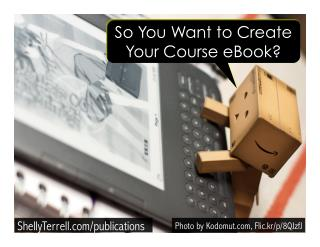 So You Want to Create Your Course Ebook