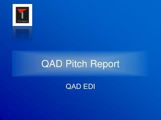 QAD Pitch Report