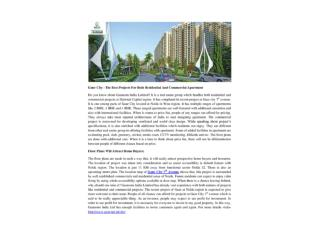 Gaur City –The Best Projects For Both Residential And Commercial Apartment