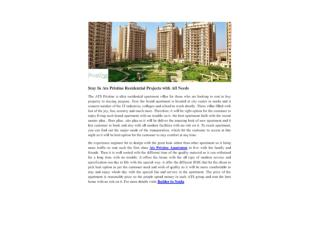 Stay In Ats Pristine Residential Projects with All Needs