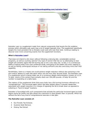 NutraHer Lean Reviews- Natural Cleansing Formula, No Side Effects