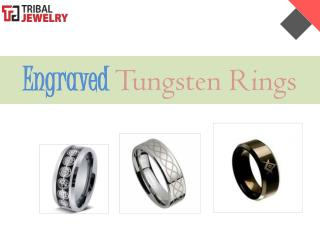 Engraved Tungsten Rings - Tribal Jewelry
