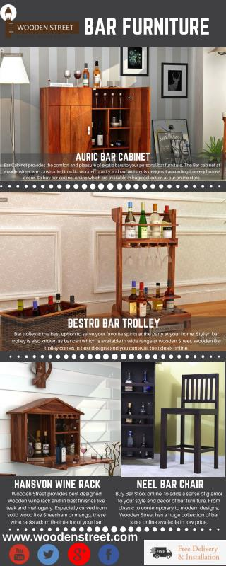 Bar Furniture - Buy bar furniture online in India @ Wooden Street and get best offers