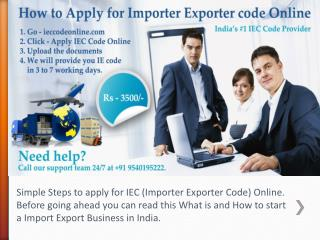 How to Apply IEC code online