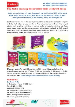 Buy Arabic Learning Books/Games Online From Goodword