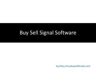 Buy Sell Signal Software, buy sell signal, technical analysis software india