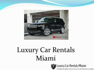 Find Luxury Cars in Miami for Rentals