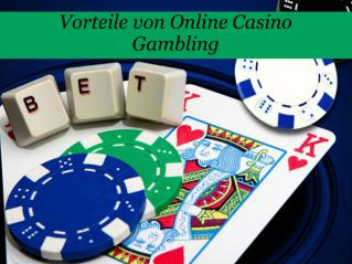Vorteile von online casino gambling