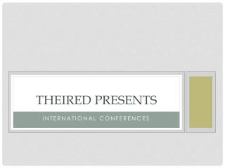 Upcoming international conferences - Open AccessJournals | theired