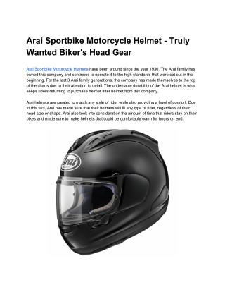 Arai Sportbike Motorcycle Helmet - Truly Wanted Biker's Head Gear