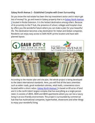 Galaxy North Avenue 2 luxury homes