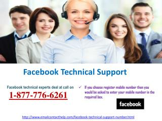 Dial Facebook Technical Support @1-877-776-6261 & Get Full-fletched solution