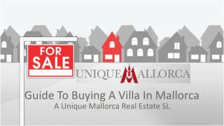 Guide to buying a villa in Mallorca
