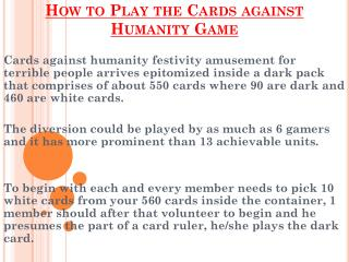 Cards against Humanity Game - Australian Cart