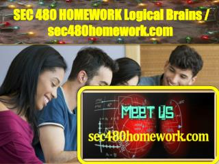 SEC 480 HOMEWORK Logical Brains / sec480homework.com
