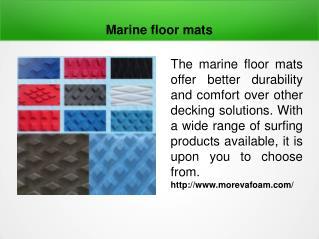 Marine floor mats