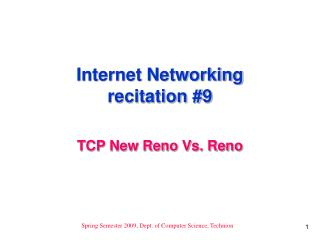 Internet Networking recitation 9