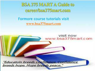 BSA 375 MART A Guide to career/bsa375mart.com