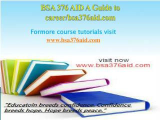BSA 376 AID A Guide to career/bsa376aid.com