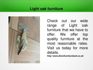 Light oak furniture