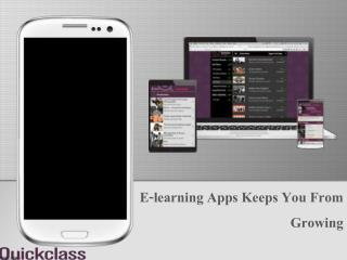 E-learning Apps Keeps You From Growing