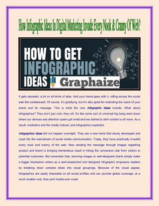 How Infographic Ideas In Digital Marketing Invade Every Nook & Cranny Of Web?