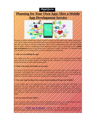 Mobile App Development- Get Diligence & Quality Service