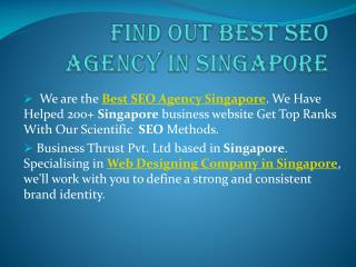 Find out best seo agency in singapore