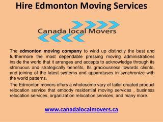 Find edmonton moving services