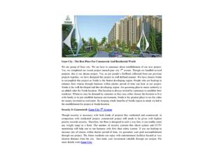 Gaur City –The Best Place For Commercial And Residential World