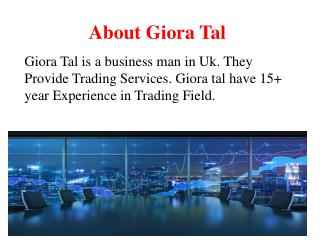 About Giora Tal | Giora Tal Contact Number | Giora Tal Website