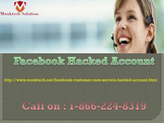 Recover Facebook Hacked Account 1-866-224-8319  with Us