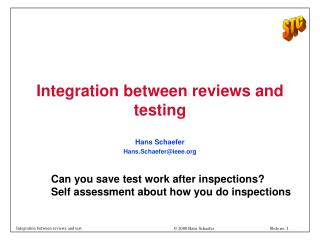 Integration between reviews and testing