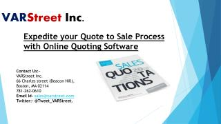Expedite your Quote to Sale Process with Online Quoting Software