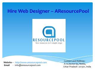 Hire Web Designer - AResourcePool
