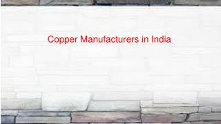 Copper wire manufacturers in India